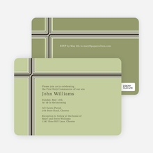 Holy Communion Invitations: The Cross and the Path - Green