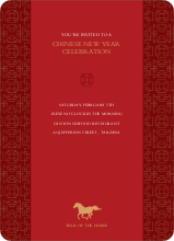 Traditional Chinese Year of the Horse - Red