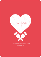 Love is Art - Red