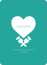 Love is Art - Blue