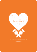 Love is Art - Orange