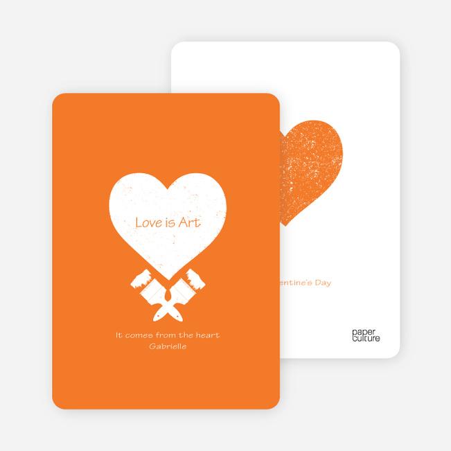 Love is Art Valentine's Day Cards - Orange