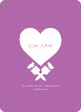 Love is Art - Purple
