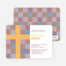 Modern Holy Communion Invitations - Red