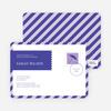 Postcard Wedding Shower Invitations - Purple