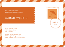 Wedding Postcard Inspiration - Orange