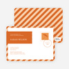 Postcard Wedding Shower Invitations - Orange