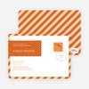 Postcard Wedding Shower Invitations - Orange
