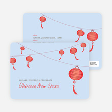 Lantern Invitations - Red