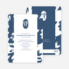 Snake: Brush, Chop and Scroll Chinese New Year Invitations - Blue