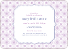 Spirograph Flower Bridal Shower Invitations - Purple