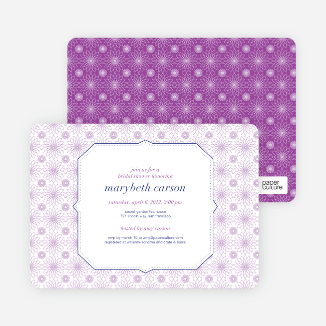 spirograph flower bridal shower invitations paper culture
