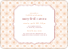 Spirograph Flower Bridal Shower Invitations - Orange