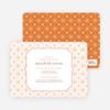Spirograph Flower Bridal Shower Invitations - Orange
