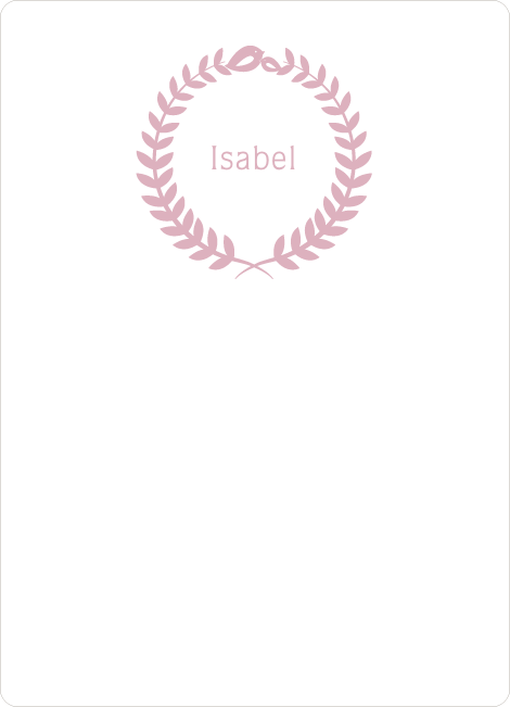 Wreath Personalized Stationery - Pink