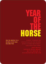 Year of the Horse - Red