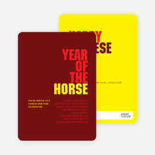 Year of the Horse Chinese New Year Invitations - Red