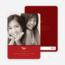 Year of the Horse Photo Cards - Red