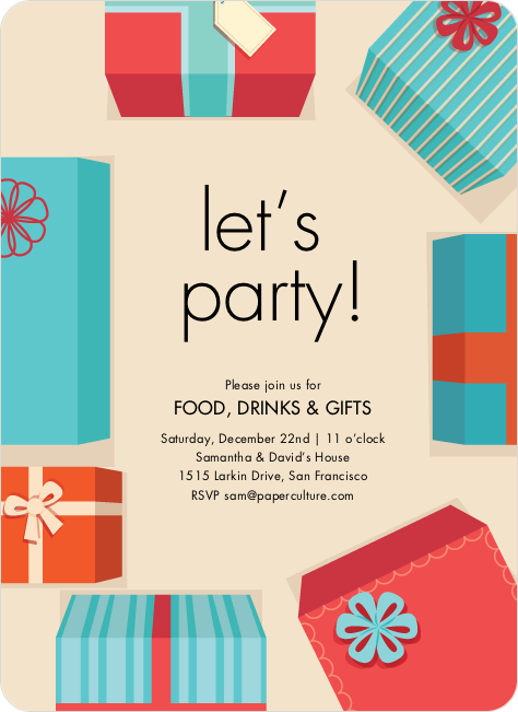 Gift exchange holiday invitations paper culture Good gifts for gift exchange