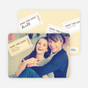 Admit One Ticket Themed Save the Date Photo Cards - Lemon Sorbet
