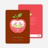 Appleseed Bird Baby Shower Invitation - Brick Red