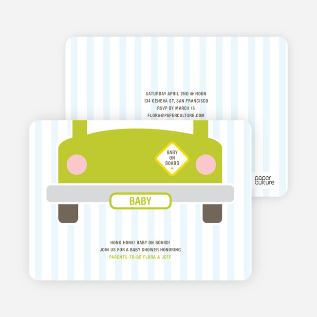 Baby on Board Baby Shower Invitations - Bloomin