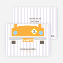 Baby on Board Baby Shower Invitations - Orangutan