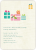Baby Shower Invitation with Presents - Pale Teal