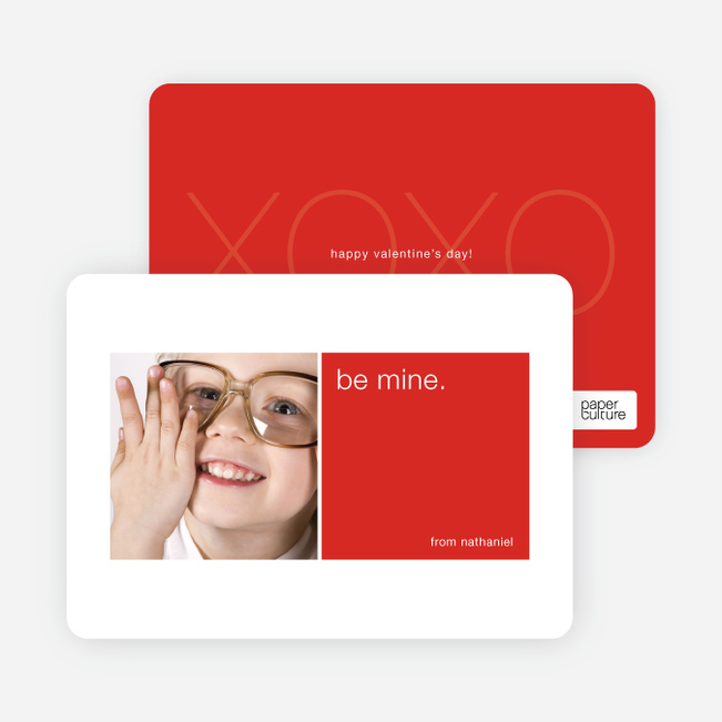 Be Mine Valentine's Day Signature Card - Cherry