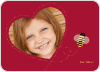 Bee Mine Heart Shaped Photo Card - Crimson