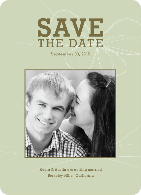 Bow Inspired Save the Date Cards - Celadon