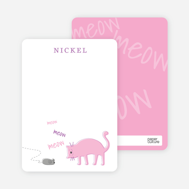 Cat and Mouse Games Cat Announcements - Pink