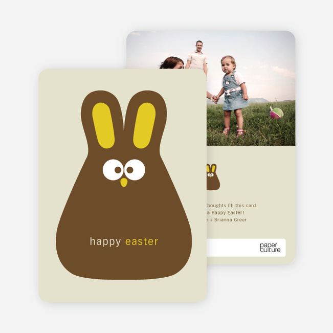 Chocolate Bunny Easter Photo Cards - Egg Tart