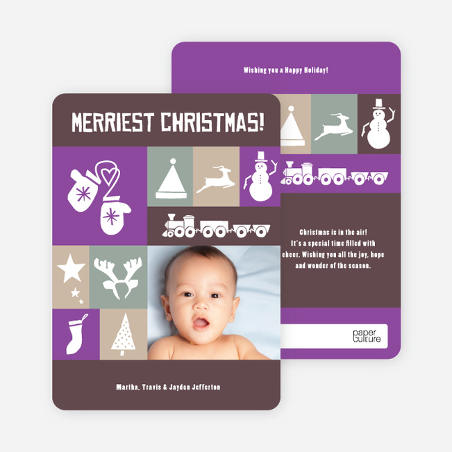 Christmas Card Memories: Reindeer, Mittens, Trees, Snowmen and more! - Amethyst