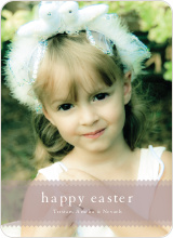 Classic Easter Photo Card - Tomato Cream