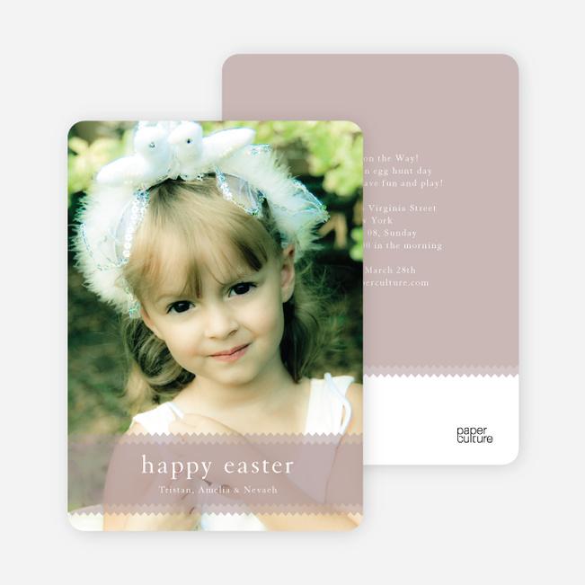 Classic Easter Photo Cards - Tomato Cream