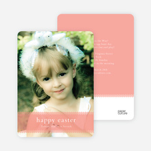 Classic Easter Photo Card - Pink Velvet