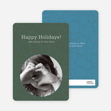 Confucius Circles Holiday Photo Cards - Taupe