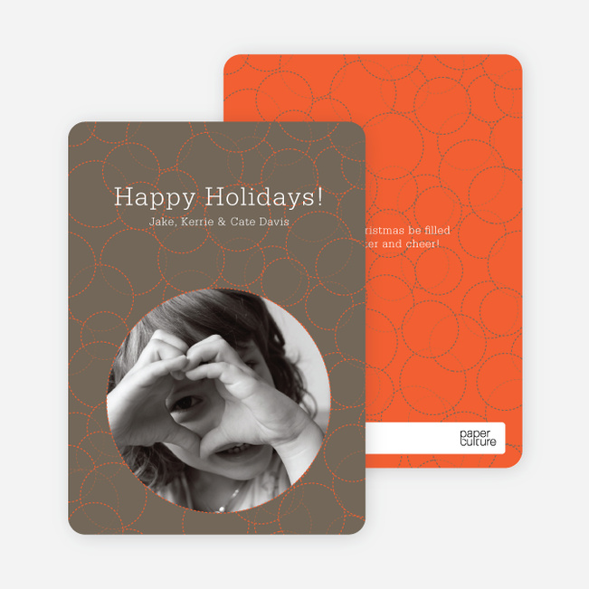 Confucius Circles Holiday Photo Cards - Pebble