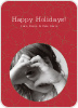 Confucius Circles Holiday Photo Cards - Burgundy