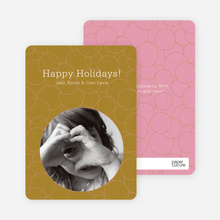 Confucius Circles Holiday Photo Cards - Mustard