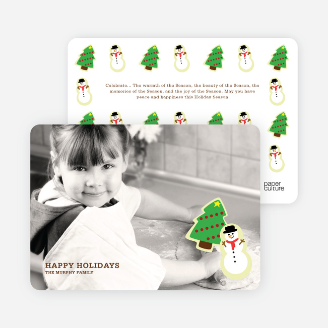 Christmas Photo Cards: Cookie Cutter - Chocolate Brown