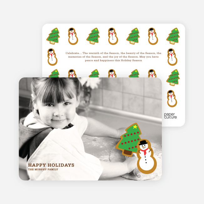 Cookie Cutter Christmas Photo Cards - Lemon Chiffon
