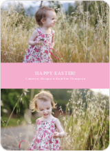 Easter Photo Sandwich - Pink Cupcake