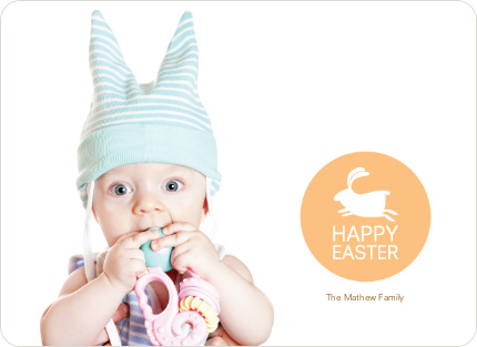 Elise the Easter Bunny Easter Photo Cards - Apricot
