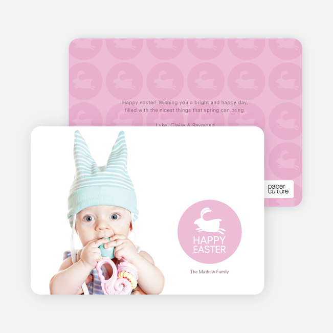 Elise the Easter Bunny Easter Photo Cards - Cotton Candy