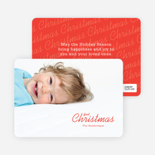 First Christmas Holiday Photo Cards - Red