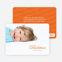 First Christmas - Orange