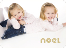 First Noel Holiday Photo Card - Creamy Yellow