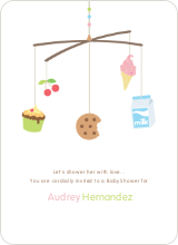 Food Cravings Mobile Baby Shower Invitation - Latte